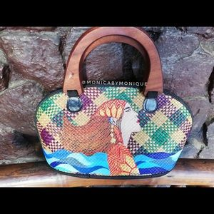 These are hand painted bags from the Philippines.